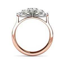 Star vintage rose gold engagement ring