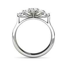 Star vintage white gold engagement ring