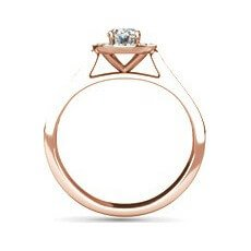 Summer rose gold oval engagement ring