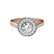 Nadia vintage rose gold engagement ring