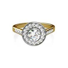 Nadia yellow gold halo engagement ring
