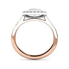 Cosima rose gold halo engagement ring