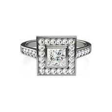 Cosima vintage white gold engagement ring