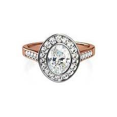 Viola vintage rose gold engagement ring