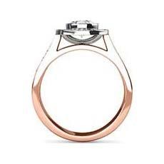 Viola rose gold oval engagement ring
