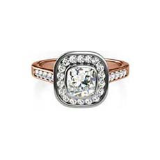 Ariel rose gold halo engagement ring