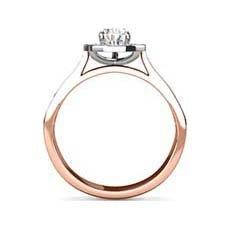 Jocelyn rose gold halo engagement ring