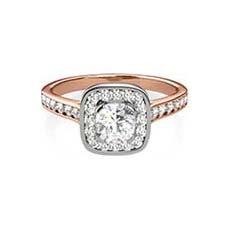 Yasel rose gold halo engagement ring