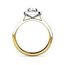 Yasel yellow gold halo engagement ring