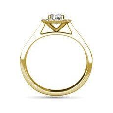 Paige yellow gold halo engagement ring