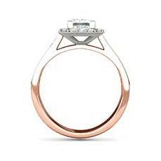 Cressida rose gold halo engagement ring