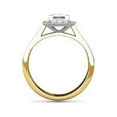 Cressida yellow gold halo engagement ring