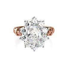Galadriel vintage rose gold engagement ring