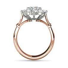 Galadriel rose gold vintage engagement ring