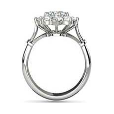 Galadriel vintage white gold engagement ring