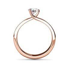 Enya rose gold solitaire ring