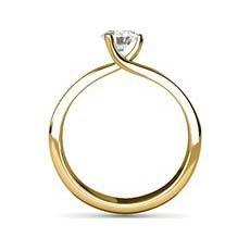 Enya yellow gold diamond ring