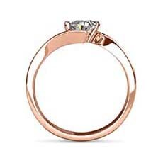 Helena rose gold engagement ring