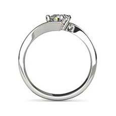 Helena white gold solitaire engagement ring