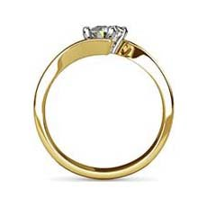 Helena yellow gold engagement ring