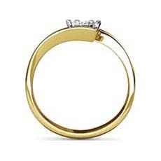 Echo yellow gold ring