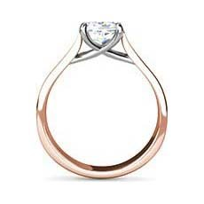Dana rose gold solitaire engagement ring