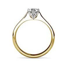 Daphne yellow gold engagement ring