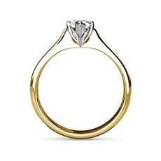 Daphne yellow gold diamond engagement ring