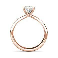 Gwyneth white and rose gold engagement ring