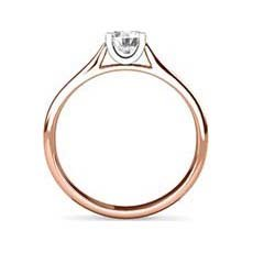 Paula rose gold solitaire engagement ring