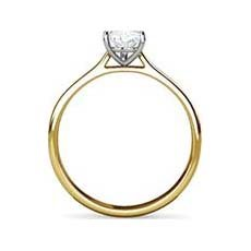 Titania yellow gold diamond ring