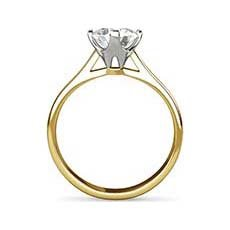 Constance yellow gold diamond engagement ring