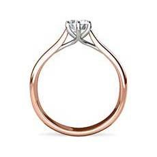 Paloma rose gold engagement ring