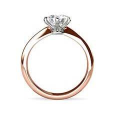 Courtney rose gold diamond ring