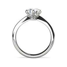 Courtney white gold solitaire engagement ring