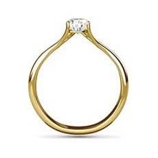 Stella yellow gold diamond engagement ring