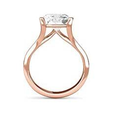 Willow rose gold diamond engagement ring