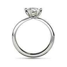 Endellion platinum solitaire ring