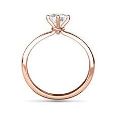Valentina rose gold solitaire engagement ring
