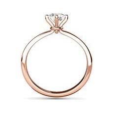 Valentina rose gold diamond engagement ring