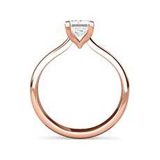 Yolanda rose gold engagement ring