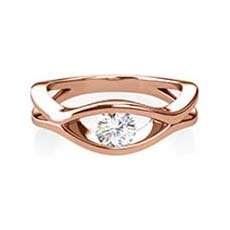 Abigail rose gold engagement ring