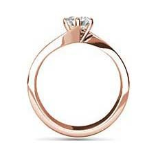 Tanvi rose gold diamond ring