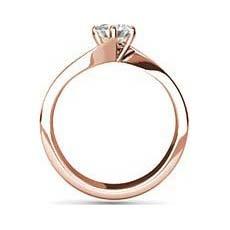 Tanvi rose gold solitaire ring