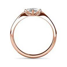 Gloria white and rose gold engagement ring