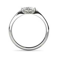 Gloria platinum princess cut engagement ring