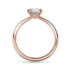 Suki rose gold oval engagement ring