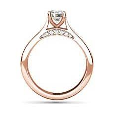 Cosette rose gold solitaire engagement ring
