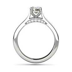 Cosette white gold solitaire engagement ring