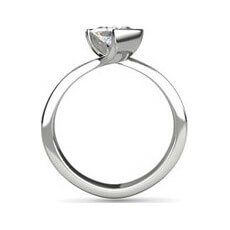 MacKenzie square cut diamond ring